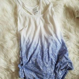 Nike dri fit blue and white ombre tank sz L